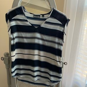 NY&Co Blue Striped Blouse XS